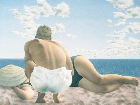Couple on Beach, 1957 - Алекс Колвілл