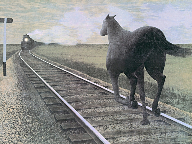 Horse and Train, 1954 - Alex Colville
