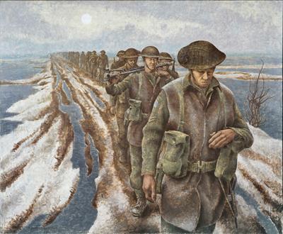 Infantry at Nijmegen - Alex Colville