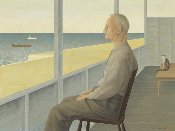 Man on Verandah, 1953 - Alex Colville