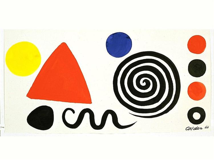 Abstraction, 1966 - Alexander Calder