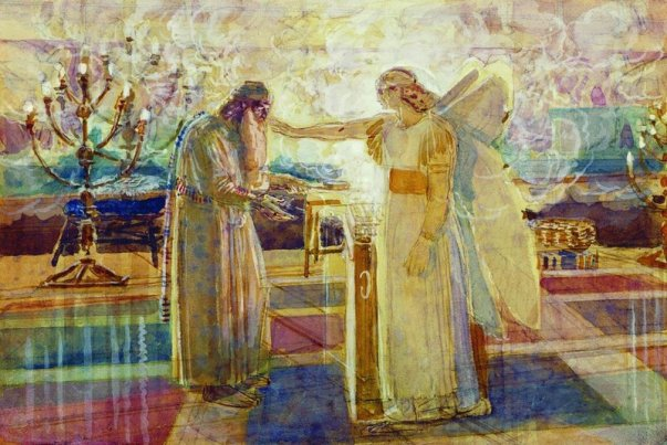 Archangel Gabriel struck Zechariah mute, 1824 - Alexander Ivanov