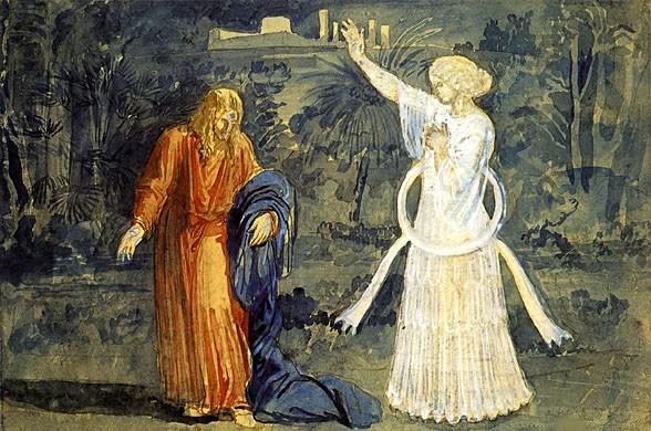 Christ in Gethsemane. The Angel., 1850