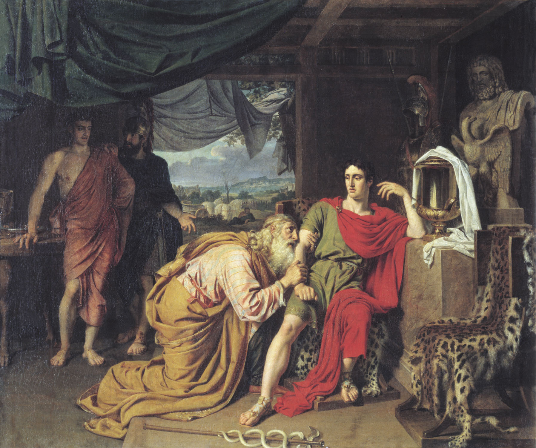 Priam asking Achilles for Hector's body, 1824