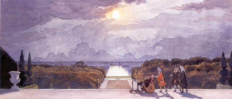 Versailles. King's walk, 1897 - Alexandre Benois
