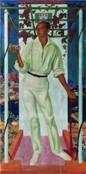 Portrait of the Mexican artist Roberto Montenegro - Alexandre Jacovleff