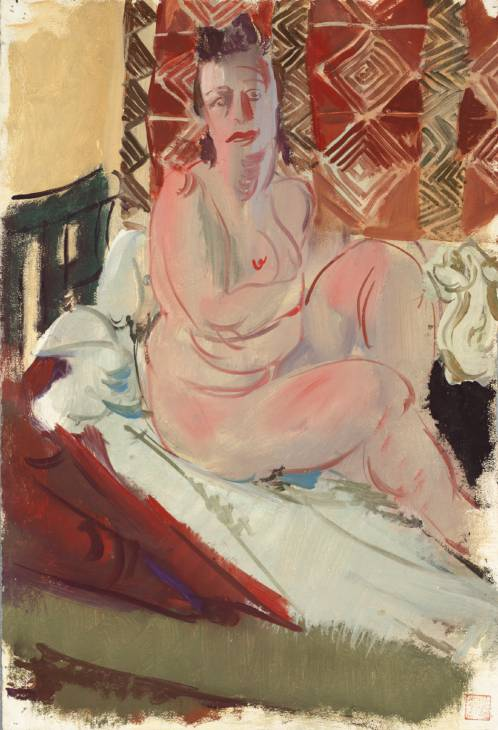 A Model Seated on a Bed, 1938