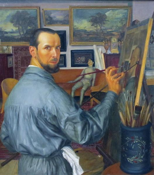 Self-portrait, 1917 - Олександр Яковлєв