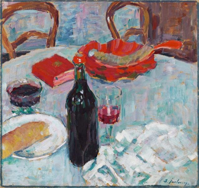 Stilleben mit Weinflasche, 1904 - Alexej von Jawlensky