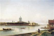 Smolny as seen from Bolshaya Okhta - Alexey  Bogolyubov