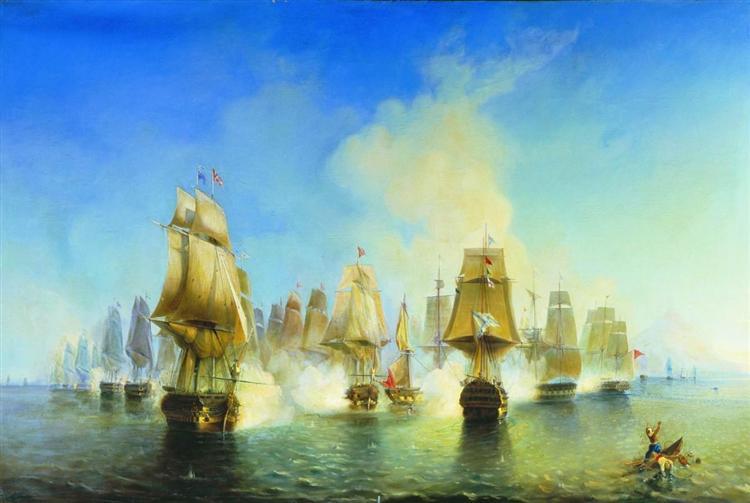 The Battle of Athos - Alexey  Bogolyubov