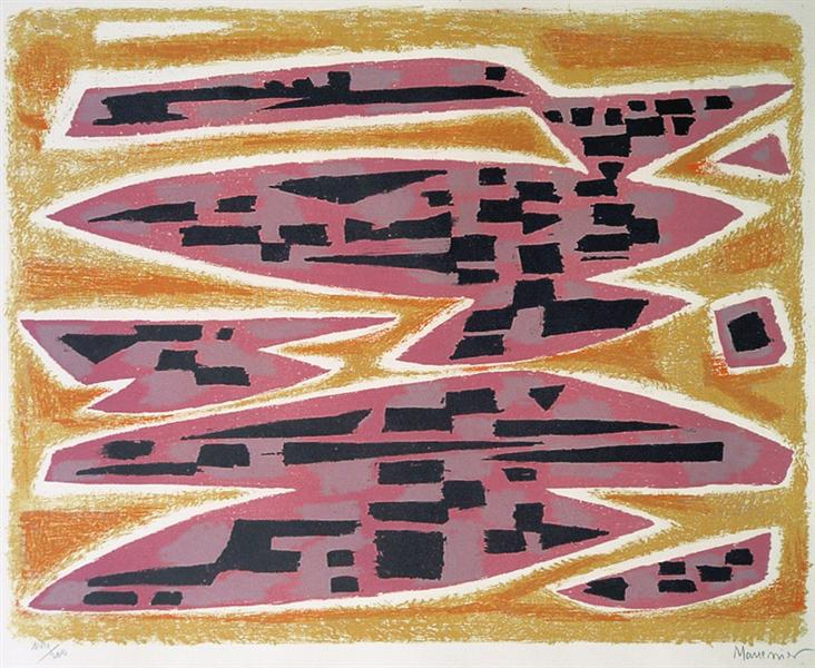 Abstract Composition, 1955 - Alfred Manessier