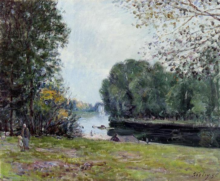 A Turn of the River Loing, Summer, 1896 - Alfred Sisley