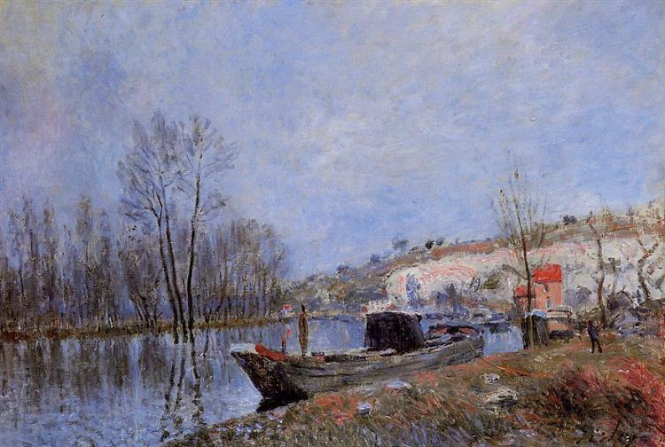 Banks of the Loing towards Moret, 1883 - Alfred Sisley