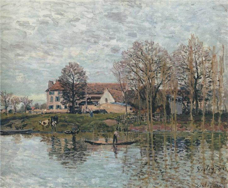 Banks of the Seine at Port Marly, 1875 - Alfred Sisley