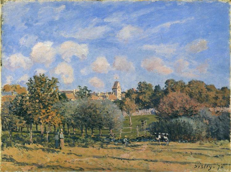 Church at Noisy Le Roi in Autumn, 1874 - Alfred Sisley