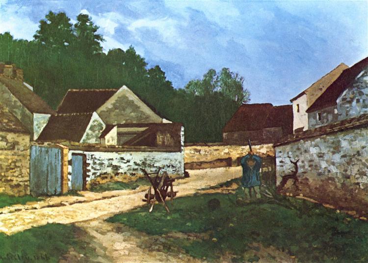 DorfstrasseinMarlotte, 1866 - Alfred Sisley