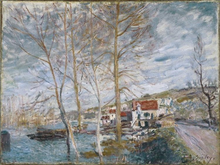 Flood at Moret, 1879 - Alfred Sisley