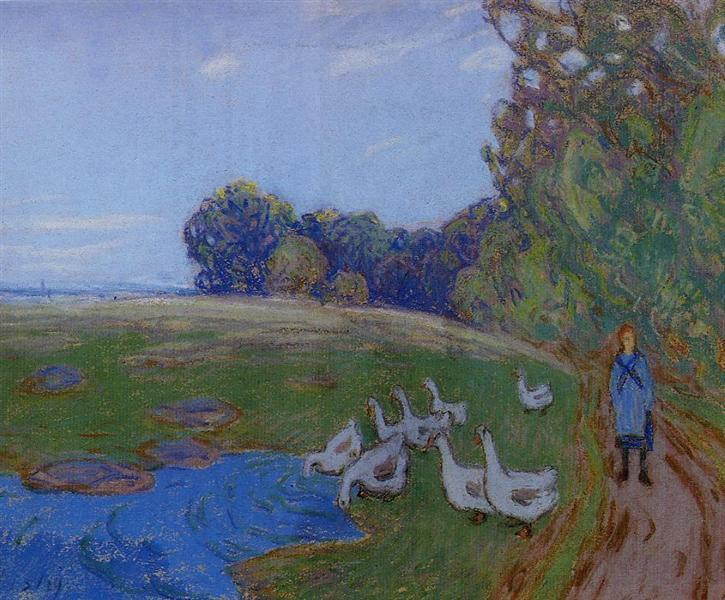 Goose Girl, c.1895 - Alfred Sisley