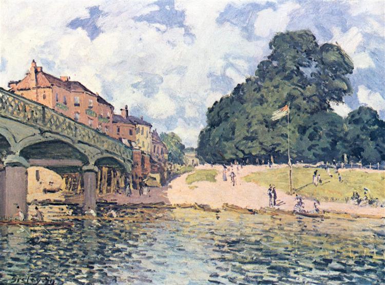 His atSuresne, 1874 - Alfred Sisley