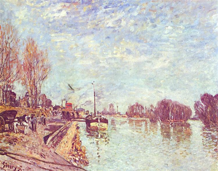 His atSuresne, 1879 - Alfred Sisley