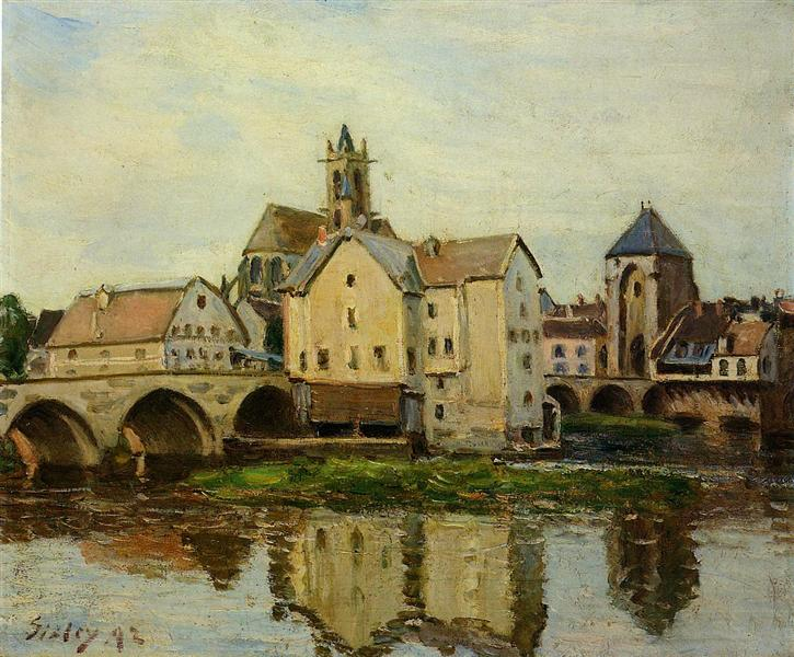 Moret sur Loing, Morning, 1892 - Alfred Sisley