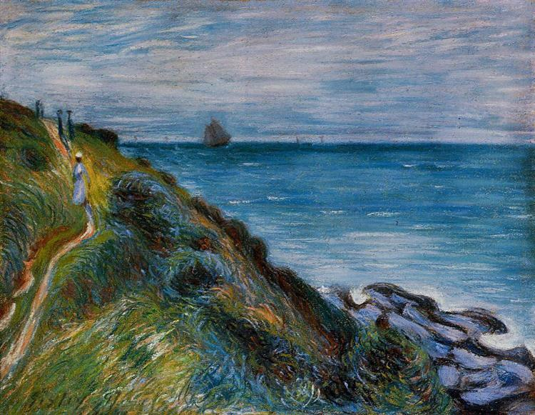 On the Cliffs, Langland Bay, Wales, 1897 - Alfred Sisley
