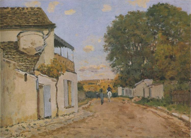 Princesse Street in Louveciennes, 1872 - Alfred Sisley