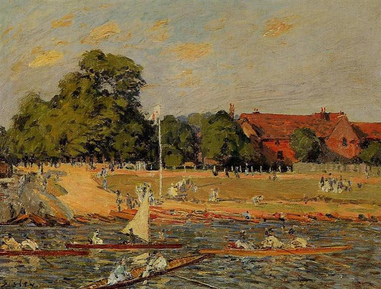 Regata at Hampton Court, 1874 - Alfred Sisley