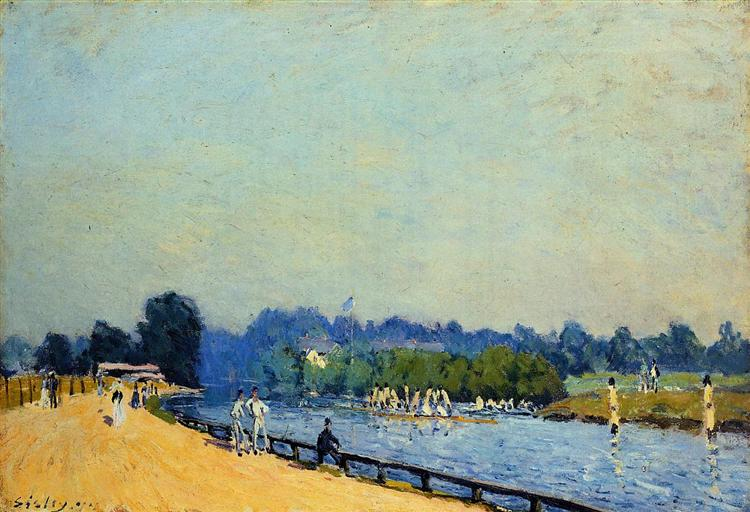 Road from Hampton Court, 1874 - Alfred Sisley