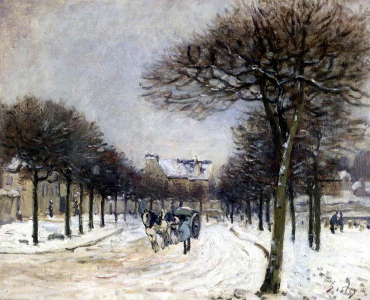 Road from Saint Germain to Marly, 1875 - Alfred Sisley