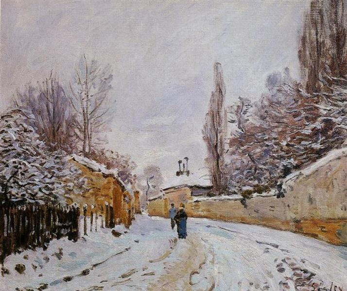 Road under Snow, Louveciennes, c.1876 - Alfred Sisley