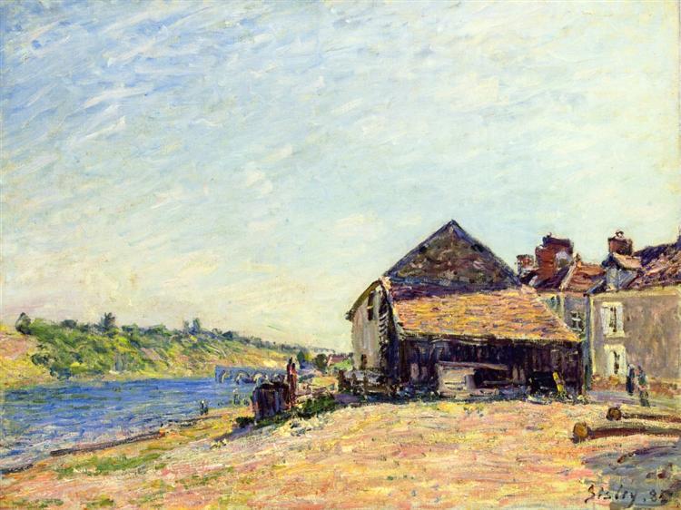 Saint Mammes, 1885 - Alfred Sisley