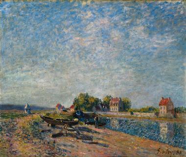Saint Mammes, Loing Canal, 1885 - Alfred Sisley