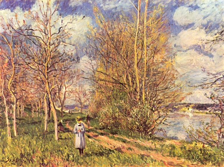 Small Meadows in Spring, 1880 - Alfred Sisley