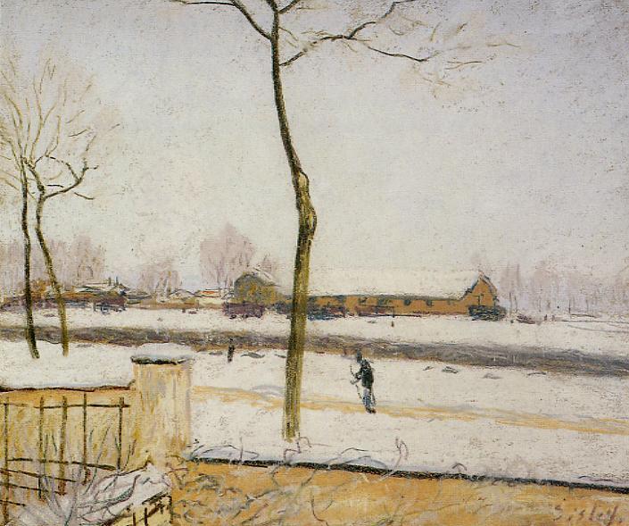 Snow Scene Moret Station, 1888 - Alfred Sisley