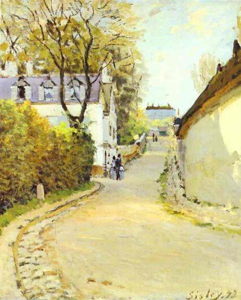 Street in Ville d Avray, 1873 - Alfred Sisley