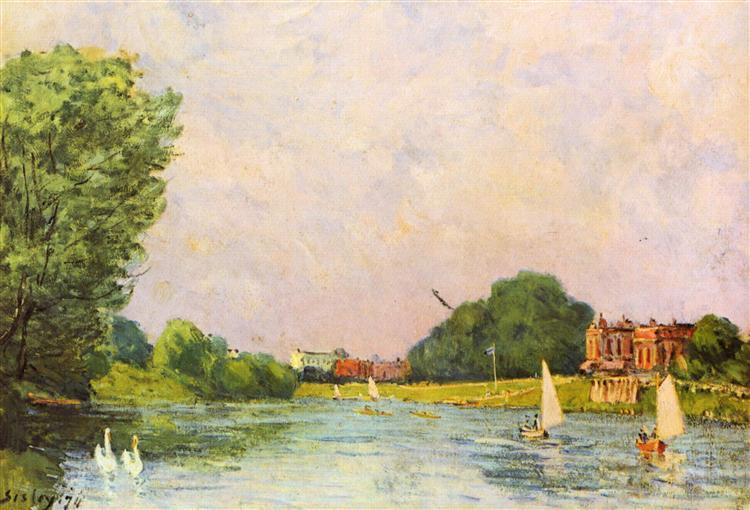 Thames at Hampton Court, 1874 - Alfred Sisley