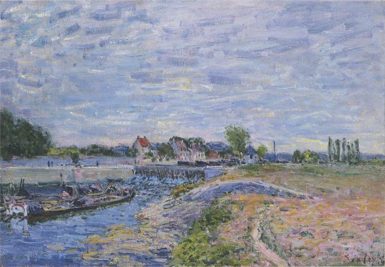 The Dam at Saint Mammes, 1885 - Alfred Sisley