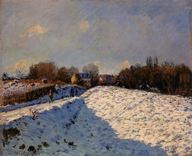 The Effect of Snow at Argenteuil, 1874 - Alfred Sisley