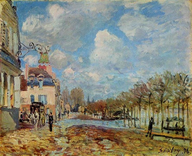 The Flood at Port Marly, 1876 - Alfred Sisley