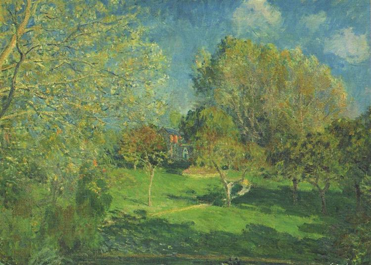 The Garden of Hoschede, Montgeron, 1881 - Alfred Sisley