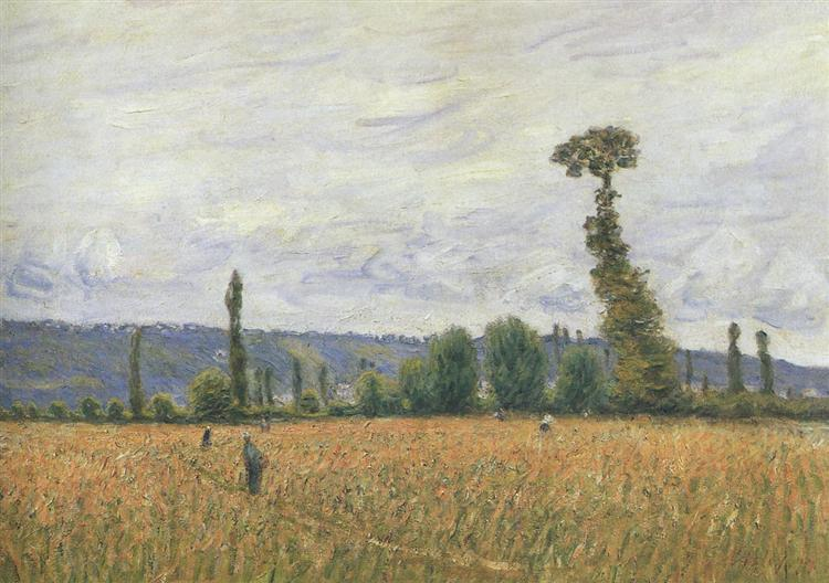 The Hills of La Bouille, 1894 - Alfred Sisley