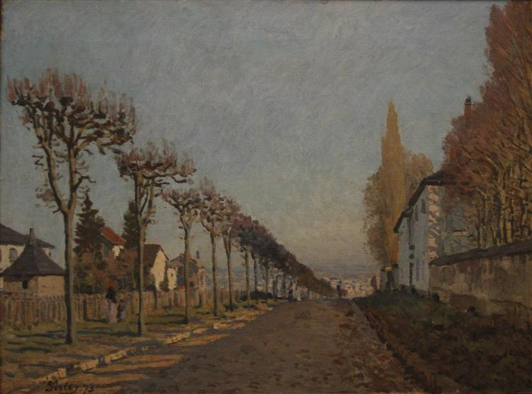 The lane of the Machine, 1873 - Alfred Sisley