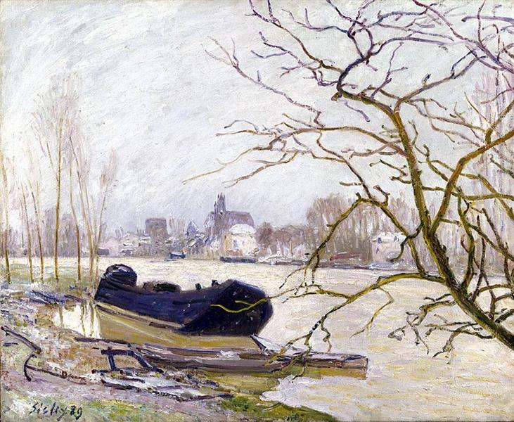 The Loing at High Water, 1889 - Alfred Sisley
