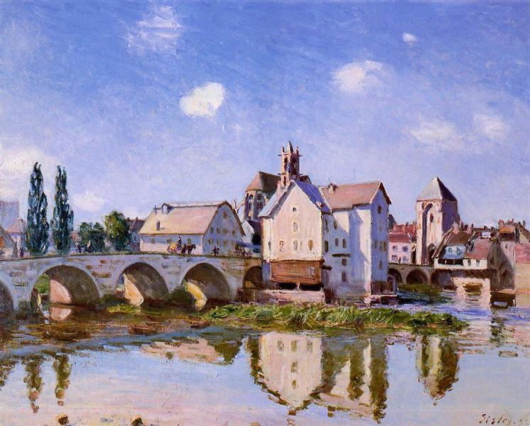 The Moret Bridge in the Sunlight, 1892 - Alfred Sisley