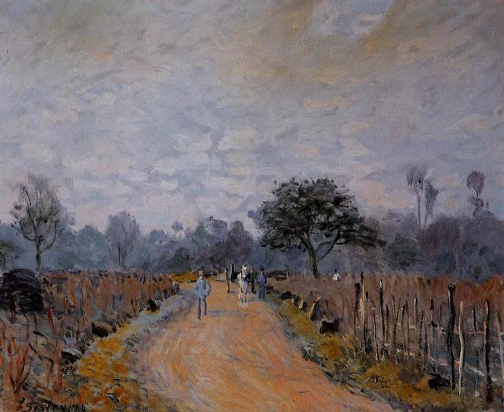 The Road from Prunay to Bougival, 1874 - Alfred Sisley