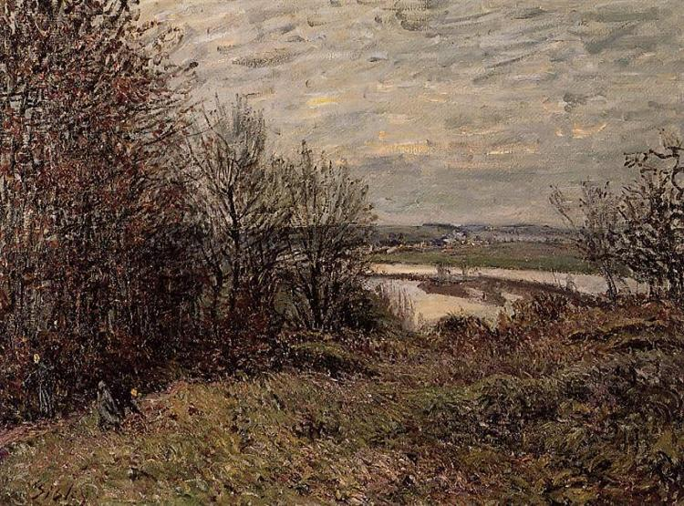 The Roches Courtaut Wood, near By, 1880 - Alfred Sisley