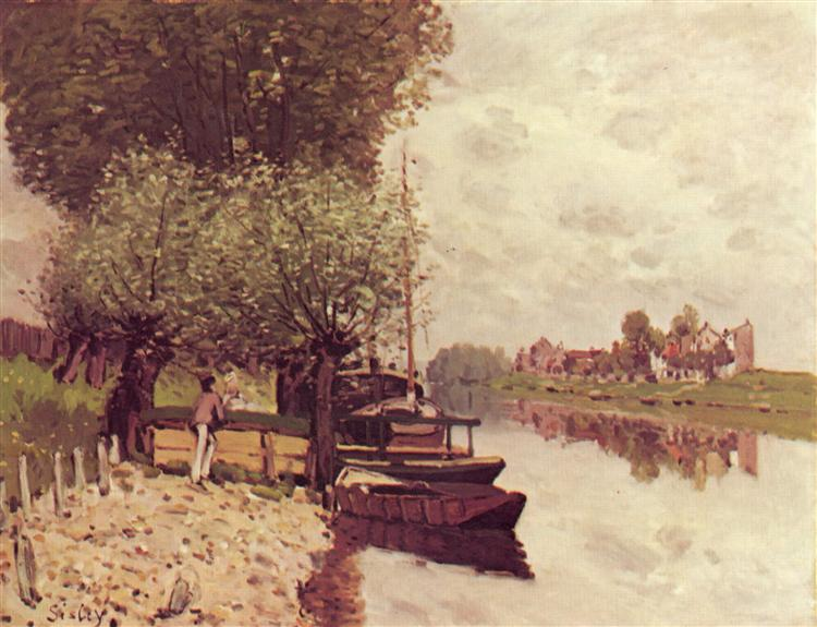 The Seine at Bougival, 1872 - Alfred Sisley