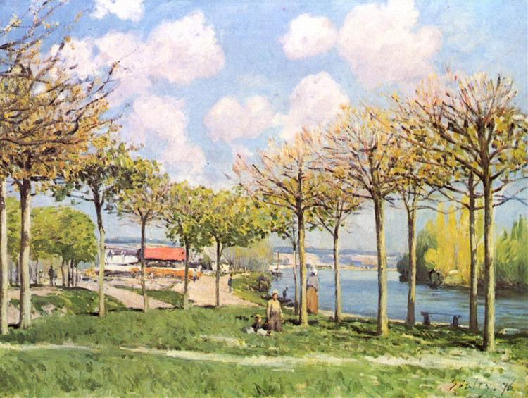 The SeineatBougival, 1876 - Alfred Sisley